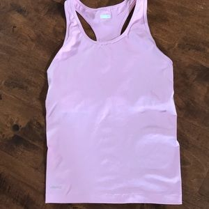 Nike racer back with built in bra pink.